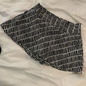 Never worn, black/white skort/dressy